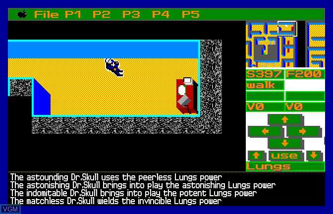 In-game screen of the game Mighty Marvel Vs The Forces of Evil on Apple II GS