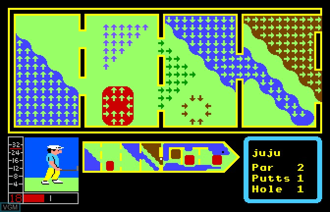 In-game screen of the game Mini Putt - The Ultimate Challenge on Apple II GS