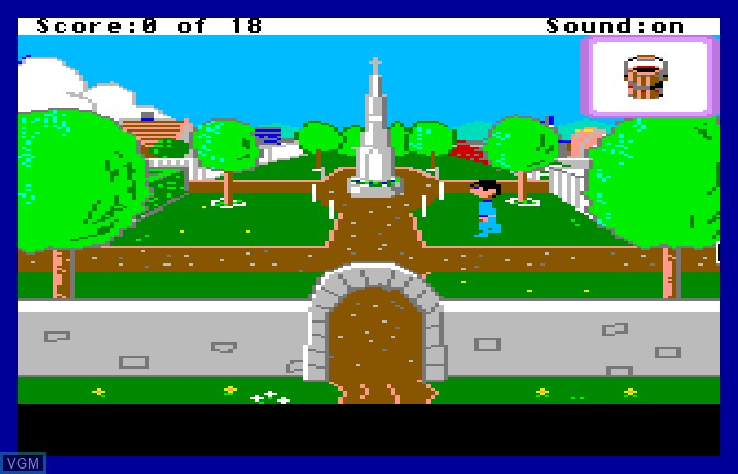 In-game screen of the game Mixed Up - Mother Goose on Apple II GS