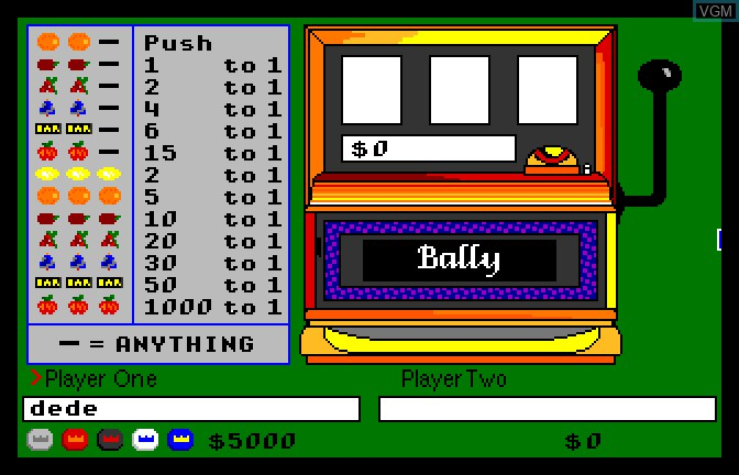 In-game screen of the game Monte Carlo on Apple II GS