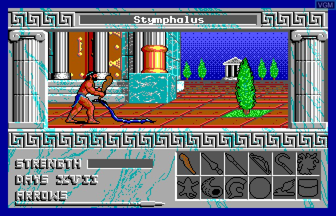 In-game screen of the game Ancient Glory on Apple II GS