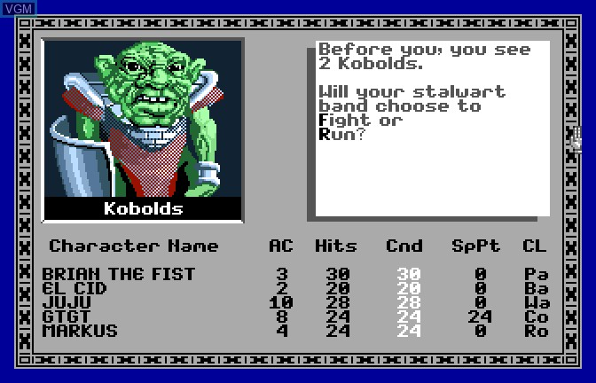 In-game screen of the game Bard's Tale - Tales of the Unknown, The on Apple II GS