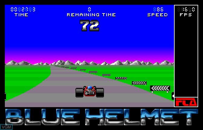 In-game screen of the game Blue Helmet on Apple II GS