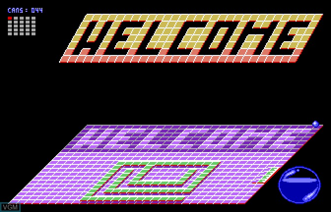 In-game screen of the game Bouncin' Ferno on Apple II GS