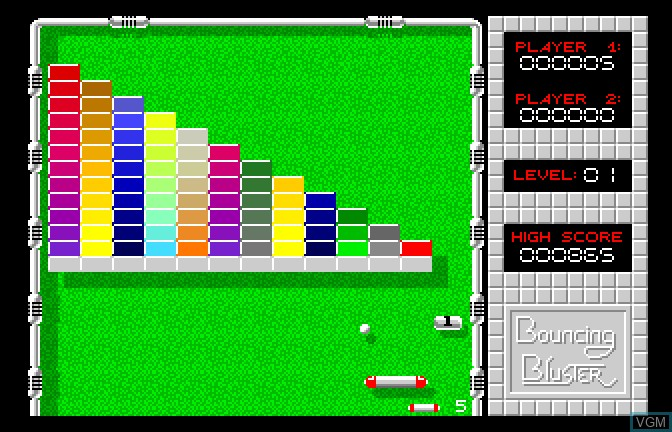 In-game screen of the game Bouncing Bluster on Apple II GS