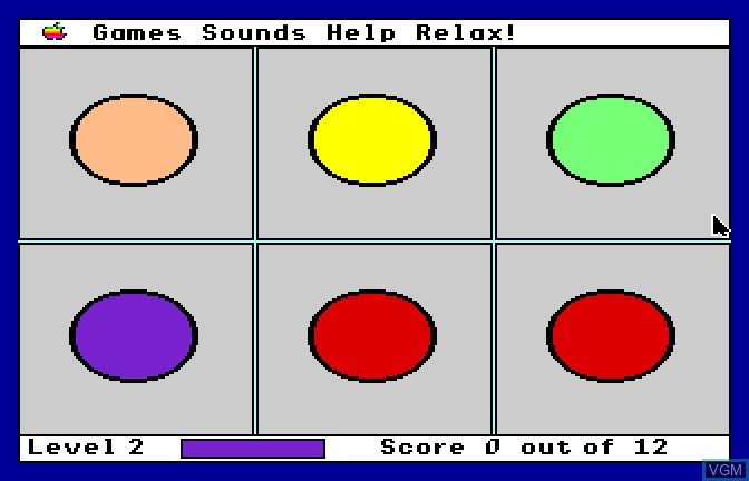 In-game screen of the game Mad Match on Apple II GS
