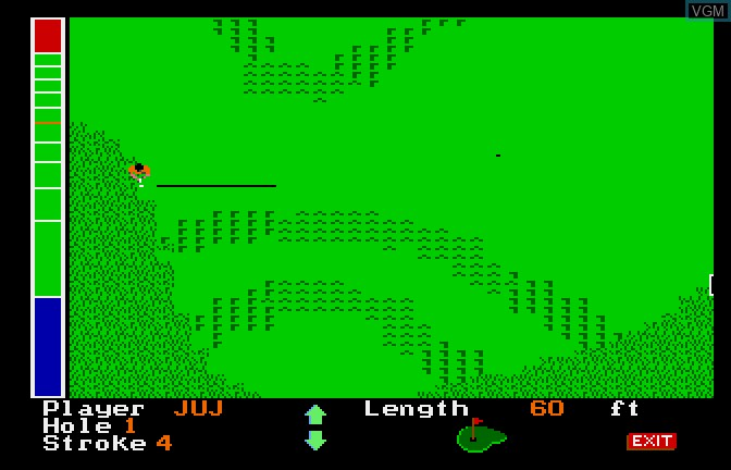 In-game screen of the game Mean 18 on Apple II GS