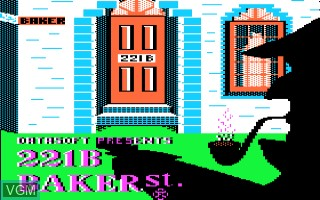Title screen of the game 221b Baker Street on Apple II
