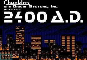 Title screen of the game 2400 A.D. on Apple II
