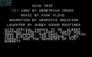Title screen of the game Acid Trap on Apple II