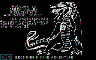 Title screen of the game Adventure - Only The Fittest Shall Survive, The on Apple II