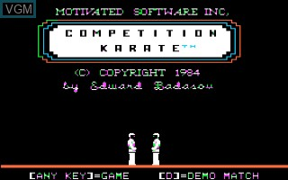 Competition Karate for Apple II - The Video Games Museum