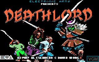 Title screen of the game Deathlord on Apple II