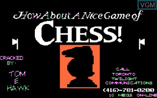 Title screen of the game Hows About A Nice Game of Chess on Apple II