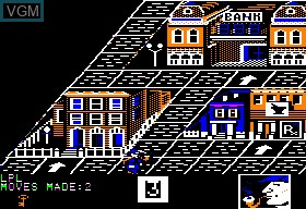 In-game screen of the game 221b Baker Street on Apple II