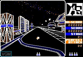 In-game screen of the game A-E on Apple II
