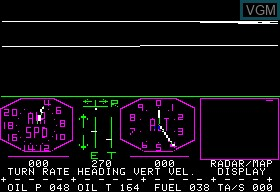 In-game screen of the game A2-FS1 Flight Simulator on Apple II