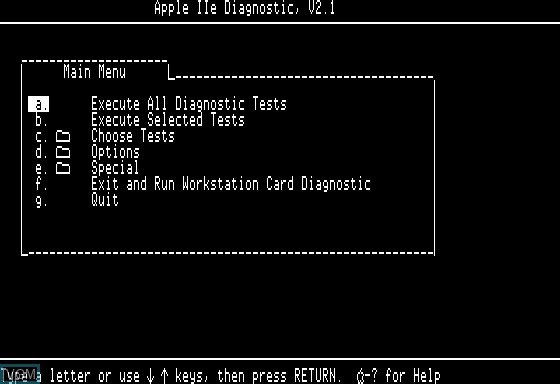 Apple IIe Diagnostic for Apple II - The Video Games Museum