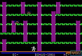 In-game screen of the game Apple Panic on Apple II