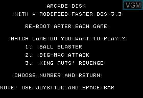 Ball Blaster & Bic-Mac Attack & King Tuts' Revenge