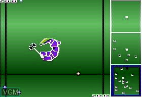 In-game screen of the game Bilestoad, The on Apple II