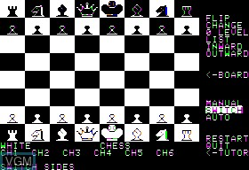 In-game screen of the game Hows About A Nice Game of Chess on Apple II