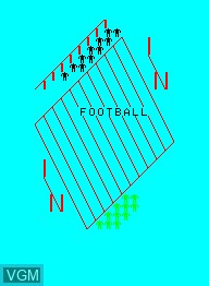 Title screen of the game American Football on Emerson Radio Corp. Arcadia 2001