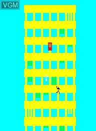 In-game screen of the game Crazy Climber on Emerson Radio Corp. Arcadia 2001