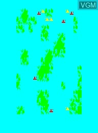 In-game screen of the game Ocean Battle on Emerson Radio Corp. Arcadia 2001