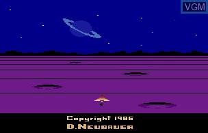 Title screen of the game Solaris on Atari 2600