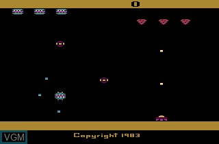 Title screen of the game Spider Fighter on Atari 2600