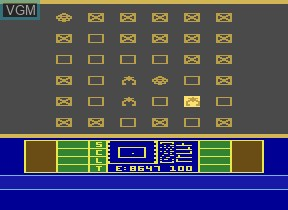 In-game screen of the game Phaser Patrol on Atari 2600