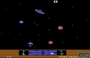 In-game screen of the game Solaris on Atari 2600
