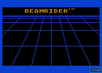 Title screen of the game Beamrider on Atari 5200