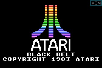Title screen of the game Black Belt on Atari 5200