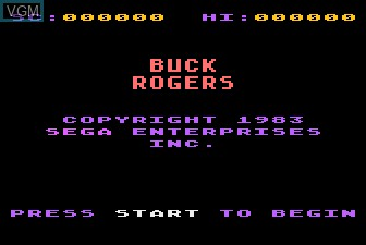 Title screen of the game Buck Rogers - Planet of Zoom on Atari 5200