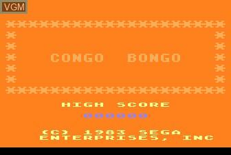 Title screen of the game Congo Bongo on Atari 5200