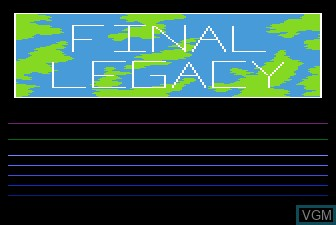 Title screen of the game Final Legacy on Atari 5200