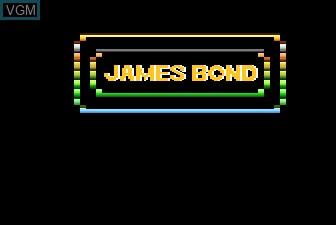 Title screen of the game James Bond 007 on Atari 5200