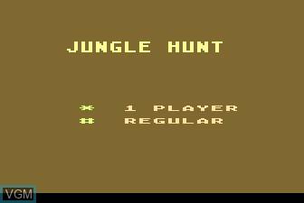Title screen of the game Jungle Hunt on Atari 5200