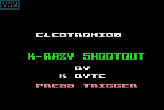 Title screen of the game K-razy Shoot-Out on Atari 5200