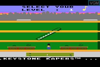 Title screen of the game Keystone Kapers on Atari 5200