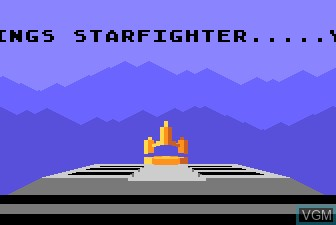 Title screen of the game Last Starfighter, The on Atari 5200