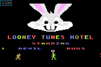 Title screen of the game Looney Tunes Hotel on Atari 5200