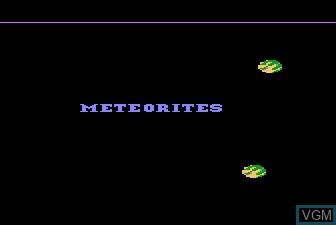 Title screen of the game Meteorites on Atari 5200