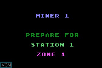 Title screen of the game Miner 2049 on Atari 5200