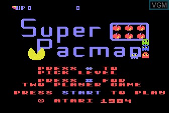 Title screen of the game Super Pac-Man on Atari 5200