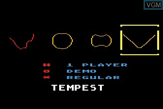 Title screen of the game Tempest on Atari 5200