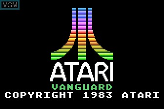 Title screen of the game Vanguard on Atari 5200