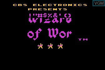 Title screen of the game Wizard of Wor on Atari 5200